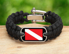 Regular Survival Bracelet™ - Diver Down Flag