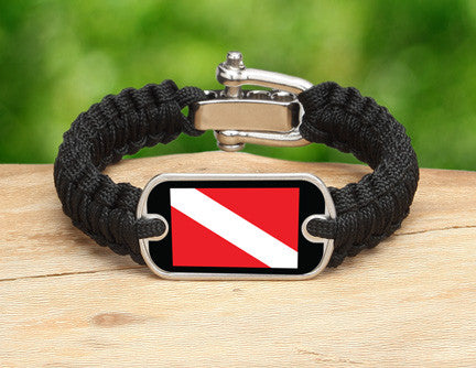Light Duty Survival Bracelet™ - Diver Down Flag
