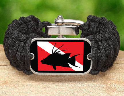 Wide Survival Bracelet™ - Hogfish Tag