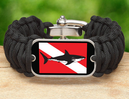 Wide Survival Bracelet™ - Shark Tag