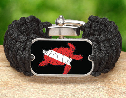 Wide Survival Bracelet™ - Sea Turtle Tag