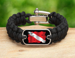 Regular Survival Bracelet™ - Tattered Diver Flag