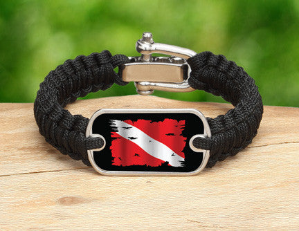 Light Duty Survival Bracelet™ - Tattered Diver Flag