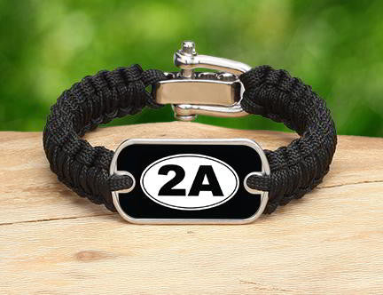 Light Duty Survival Bracelet - 2nd Amendment (White)