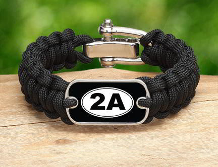 Regular Survival Bracelet - 2nd Amendment (White)
