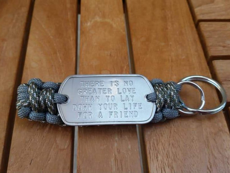 DOG TAG KEY FOB CAMO ACU AND GREEN FOLIAGE