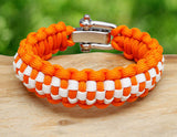 Regular Survival Bracelet™ - Officially Licensed - Tennessee Volunteers® Checkerboard
