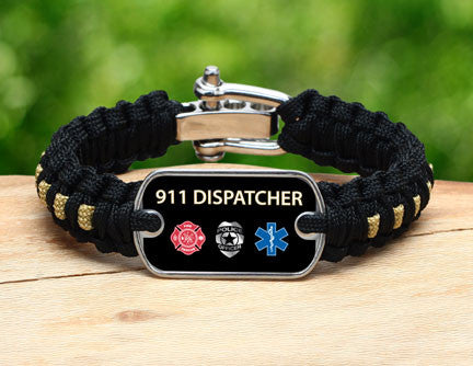 Light Duty Survival Bracelet™ - 911 Dispatcher Tag