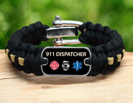Regular Survival Bracelet™ - 911 Dispatcher Tag