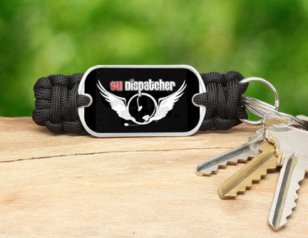 Key Fob - 911 Dispatcher Angel Tag