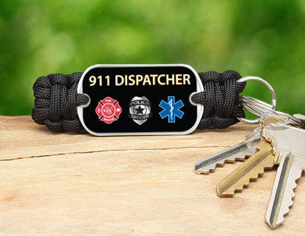 Key Fob - 911 Dispatcher Tag