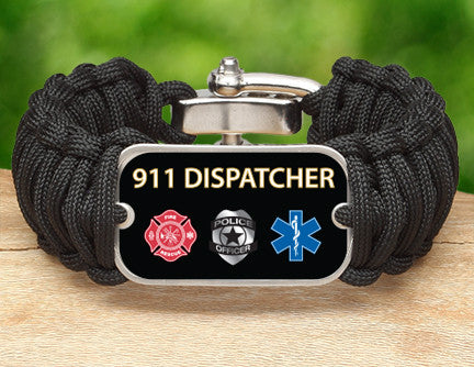 Wide Survival Bracelet™ - 911 Dispatcher Tag