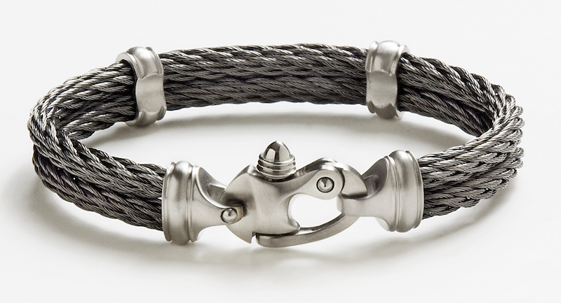 Double Mariners Bracelet - 4.5mm Black Ice