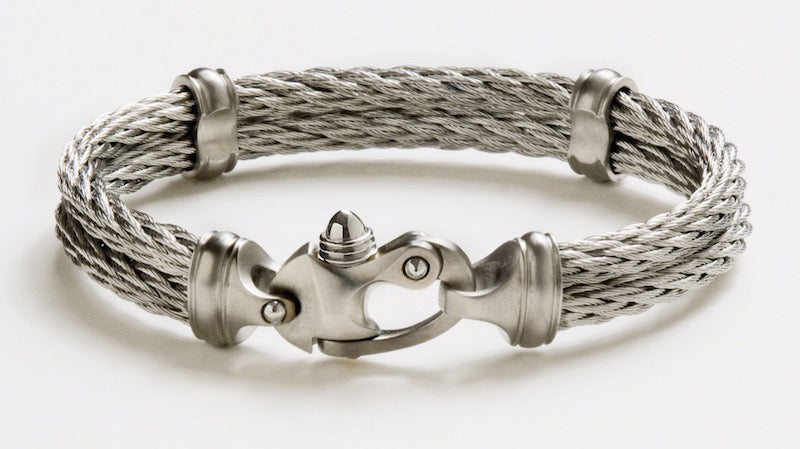 Double Mariners Bracelet - 4.5mm White Ice