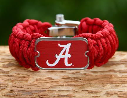Wide Survival Bracelet™ - Officially Licensed - Alabama®  Crimson Tide® V2