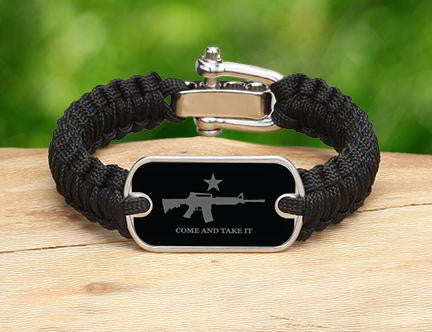 Light Duty Survival Bracelet - Come and Take It (Gray)
