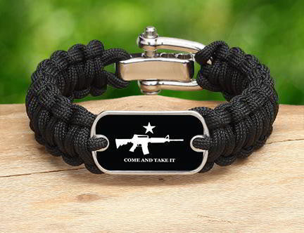 Regular Survival Bracelet - Come and Take It (White)