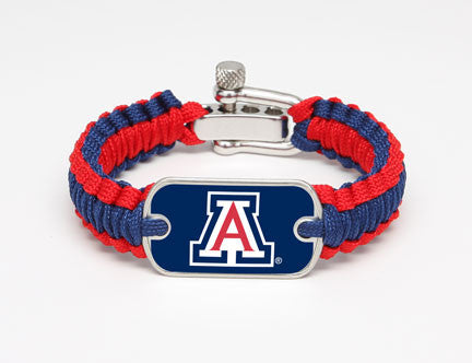 Light Duty Survival Bracelet - Officially Licensed - Arizona Wildcats®