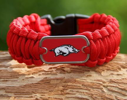 Regular Survival Bracelet - Officially Licensed - Arkansas Razorbacks® V2