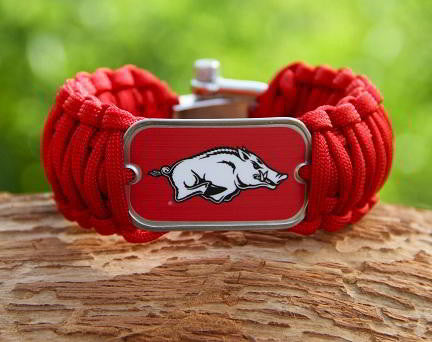 Wide Survival Bracelet - Officially Licensed - Arkansas Razorbacks® v2