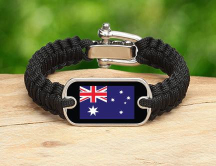 Light Duty Survival Bracelet™ - Australian Flag