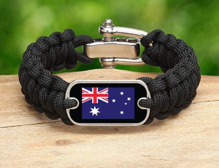 Regular Survival Bracelet - Australian Flag