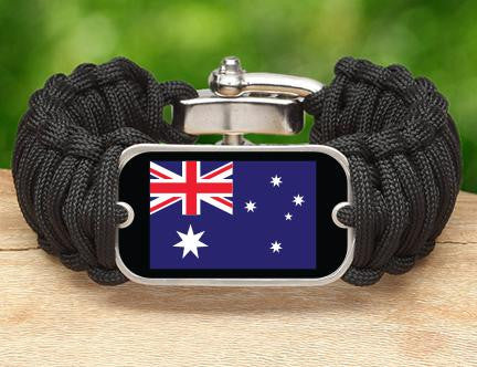 Wide Survival Bracelet™ - Australian Flag