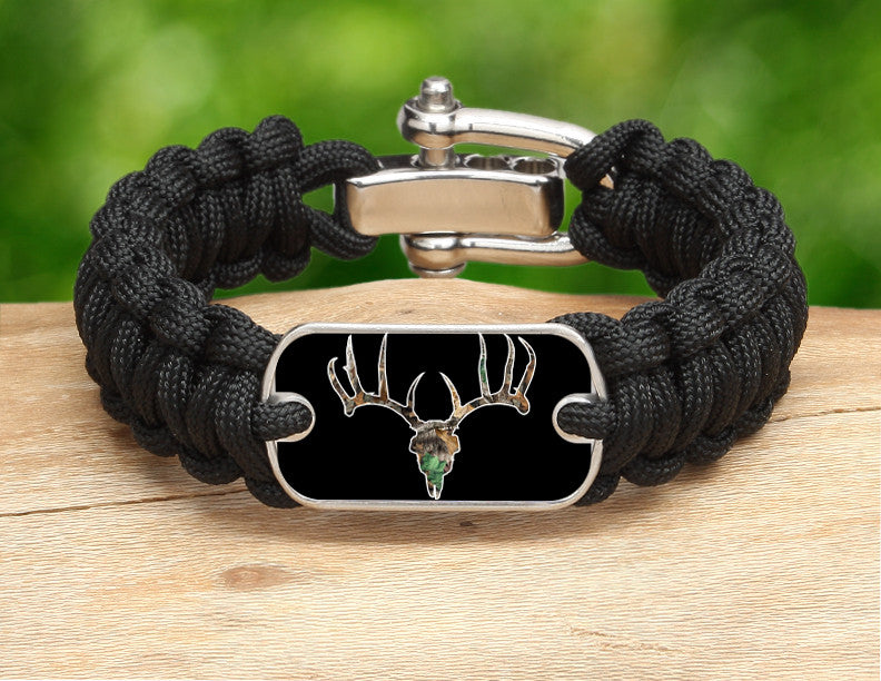 Regular Survival Bracelet™ - Camo Deer Skull