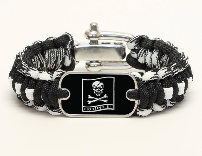 Regular Survival Bracelet™ - Fighting 84 - Black Camo