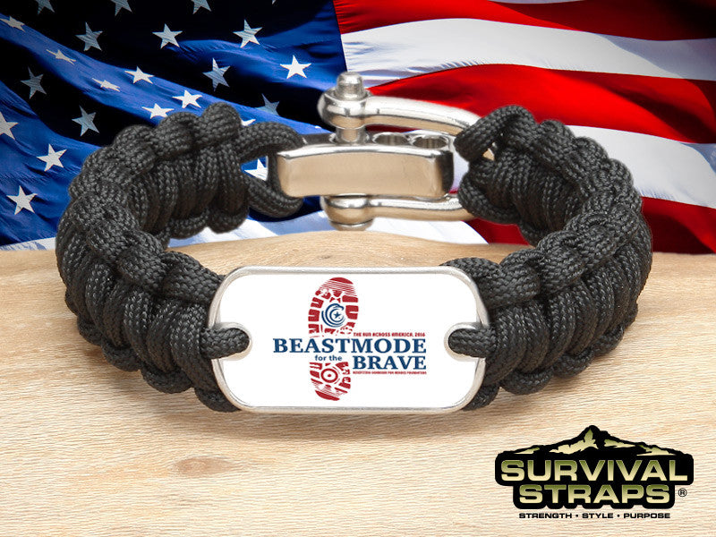 Regular Survival Bracelet - BeastMode for the Brave (Black)