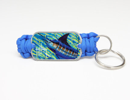 Key Fob-Guy Harvey-Blue Runner