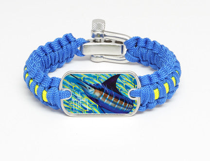 Light Duty Survival Bracelet™-Guy Harvey-Blue Runner