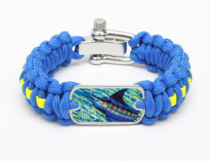 Regular Survival Bracelet™-Guy Harvey-Blue Runner