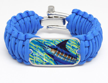 WIDE Survival Bracelet™-Guy Harvey-Blue Runner