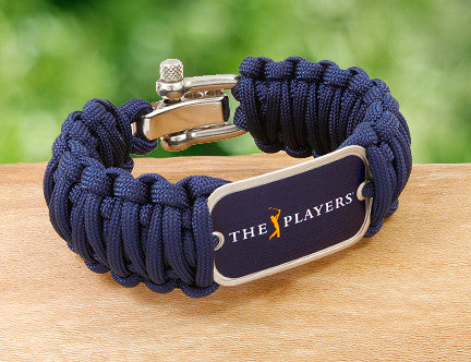 Wide Survival Bracelet™ -  Officially Licensed - The Players® - (Navy Tag)