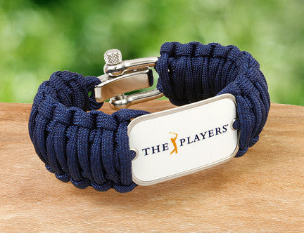 Wide Survival Bracelet™ -  Officially Licensed - The Players® - (White Tag)