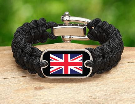 Regular Survival Bracelet - British Flag