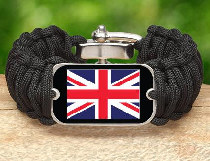 Wide Survival Bracelet™ - British Flag