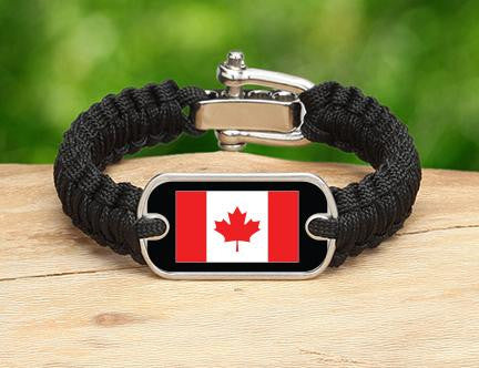 Light Duty Survival Bracelet™ - Canadian Flag