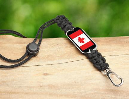 Neck ID Lanyard - Canadian Flag