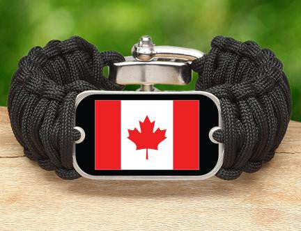 Wide Survival Bracelet™ - Canadian Flag