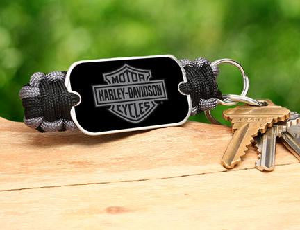 Key Fob - Harley-Davidson® - Black and Charcoal
