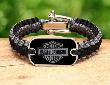 Light Duty Survival Bracelet™ - Harley-Davidson® - Black and Charcoal