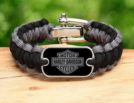 Regular Survival Bracelet™ - Harley-Davidson® - Black and Charcoal