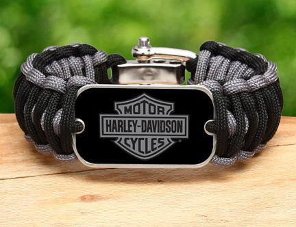 Wide Survival Bracelet™ - Harley-Davidson® - Black and Charcoal