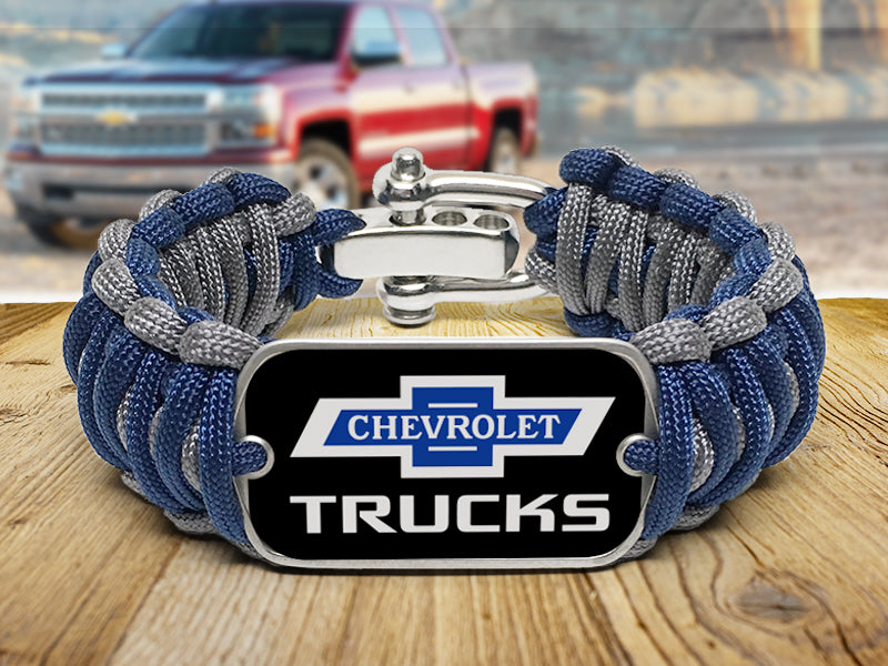 Truck 100 Wide Survival Bracelet - Dog Tag