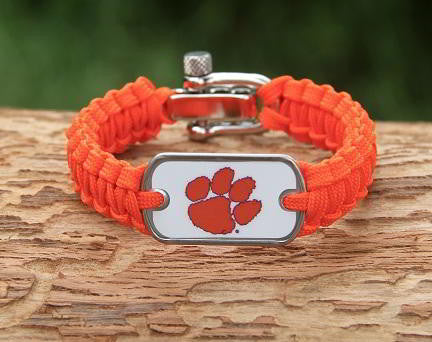 Light Duty Survival Bracelet™ - Officially Licensed - Clemson Tigers® V2