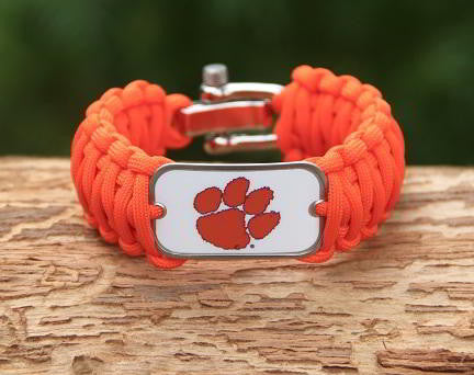 Wide Survival Bracelet™ - Officially Licensed - Clemson Tigers® V2