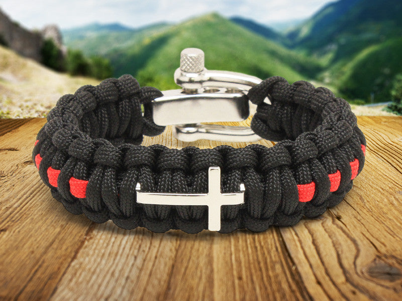 Regular Survival Bracelet™  - Firefighter Red Line Cross