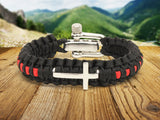 Light Duty Survival Bracelet™ - Firefighter Red Line Cross